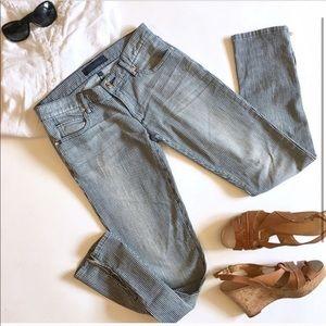Juicy Couture Railroad Striped Jean